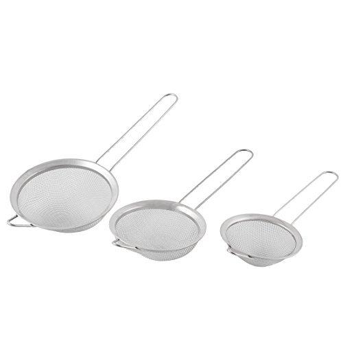 Fil eDealMax métal fin Mesh Cuisine Passoire Tamiser la farine Sieve huile Passoire 3 en 1