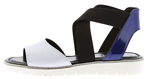 Gabor 65.572.21 - Sandalias de vestir de piel para mujer WEISS/MARE WEISS/MARE