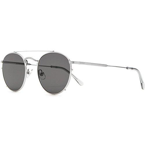 Crap Eyewear The Tuff Patrol Sunglasses - Brushed Silver Wire/Smoke Grey - Crap Sunglasses