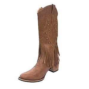 Luckycat Zapatos Mujer Botines Mujer Tacon Medio Planos Invierno ...