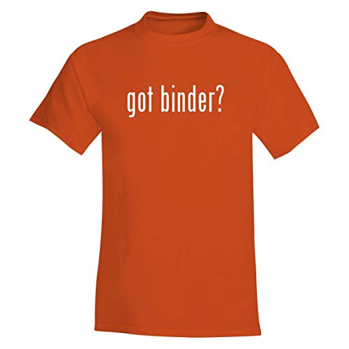 got Binder? - A Soft & Comfortable Men's T-Shirt, Orange, Large