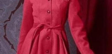 Modezene Mantel Stylisher Frühjahrsmantel Übergangsmantel rot
