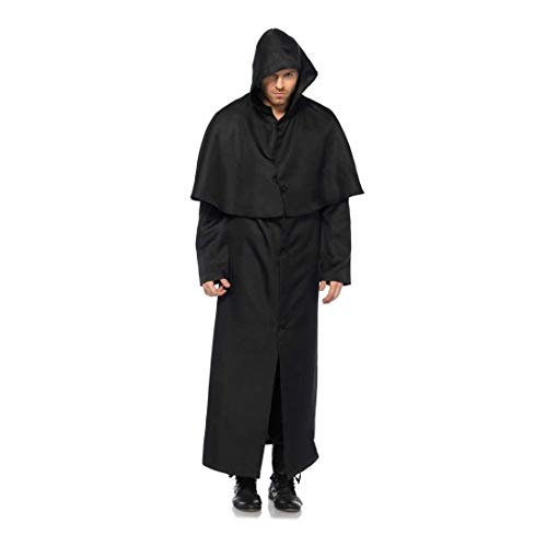 Victorian Soldier Costume (Ovedcray Costume series Victorian Hooded Button Front Adult Mens Cloak Doctore)