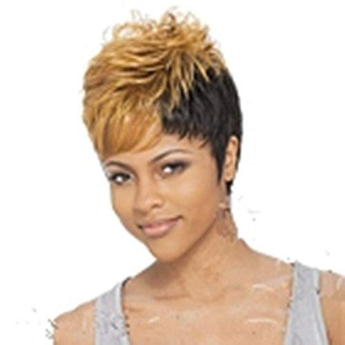Synthetic Wig Curly Style Pixie Cut Capless Wig Blonde Blonde Red Grey Synthetic Hair 6 inch Women's Blonde Wig Short hairjoy ()
