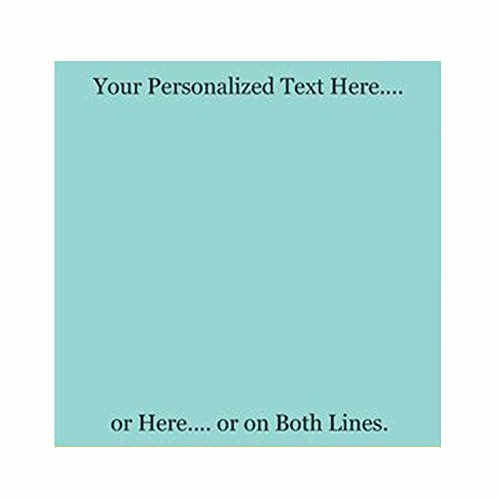 Personalized Sticky Notes Set of 3 - Custom Stationery Paper Memo Pads - Office School or Party Supplies (Misty (Personalized Paper Weight)