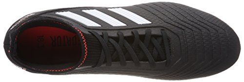 adidas Herren Predator 18.3 FG Fußballschuhe Schwarz (Core Black/ftwr White/solar Red)