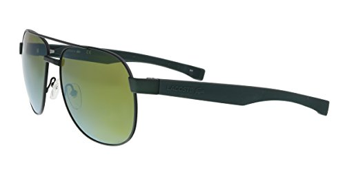 Lacoste Men's L186s Aviator Sunglasses, Green Matte, 57 - Lacoste Aviators