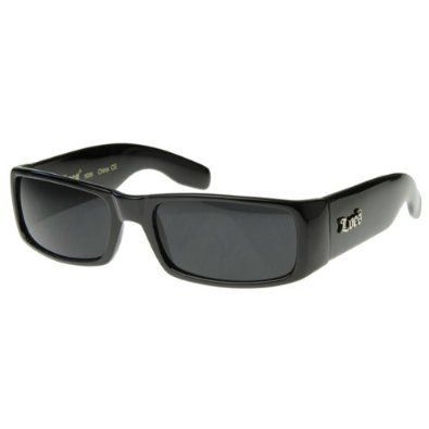 Locs Sunglasses Black OG Original Gangster Shades Dark Lens NEW ()