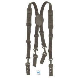 (HWC Nylon Police, Fire Adjustable Duty Belt SUSPENDERS)