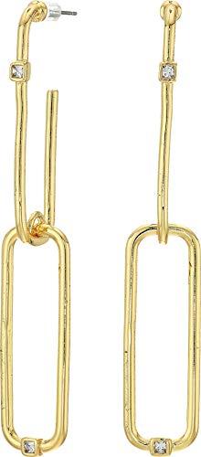 Linear Drop Earrings Crystal - Vince Camuto Women's Linear Post Earrings Gold/Crystal One Size