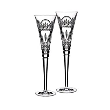 Waterford Jim O'Leary Lismore Celebrations Toasting Flute Glass (Set of 2)