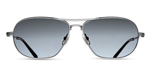 Matsuda - M3028 - AS.SG.61 - Antique Silver - Cobalt Polarized Glass - Sunglasses