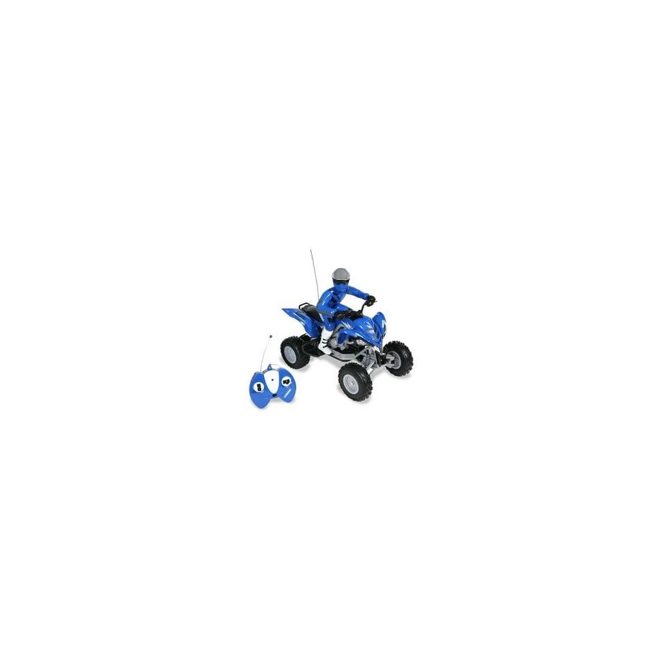R/C Yamaha Raptor ATV   Blue 27 MHz Toys & Games