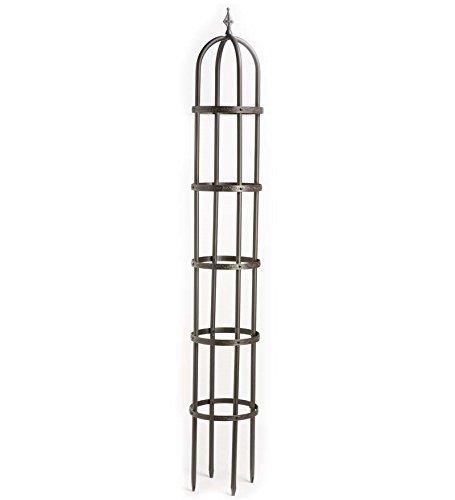 Cheap 8′ Powder-Coated Steel Garden Obelisk, Bronze