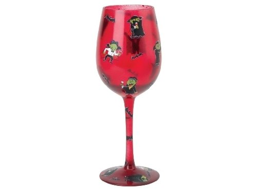 Santa Barbara Design Studio GLS11-5527A Lolita Love My Wine Hand Painted Glass, Bite Me -