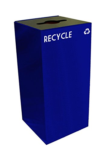 Witt 32GC04-BL GeoCube Recycling Receptacle with Combinat...