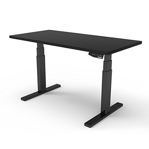 Flexispot 71''W Height Adjustable Desk Frame Electric Sit Stand Desk Base Home Office Stand up Desk (Black + Black) by FLEXISPOT