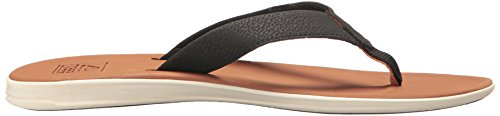 Reef Herren Slammed Rover Black/Tan Zehentrenner Red/Black