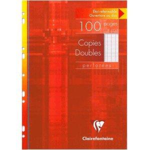 Clairefontaine 10 x Kanzleipapier A4 Lineatur Seyes gelocht 50 Blatt
