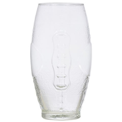 Football Shaped Beverage Glass, Clear Beverage Glass - Homer Simpson Duff Beer