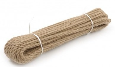 7 Meters Natural Jute Rope 30mm Twisted Decking Cord Garden Boating Sash Campin