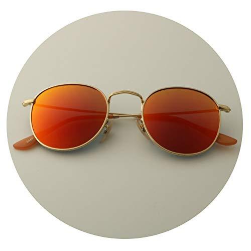Round Sunglasses Polarized Women Men 2019 New Fashion Brand Designer Vintage Eyewear For Female Driving Sun Glasses UV400,gold F red