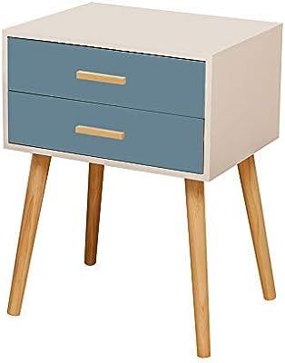 Bedside Cabinet Oak Color Wood Side Table Nightstand 1 Drawer Storage Bedroom