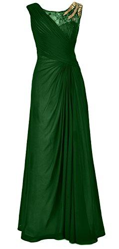 Long of Party Dunkelgrun Chiffon Evening Formal Bride Women Mother MACloth Gown the Dress 1xI6EqOvvw