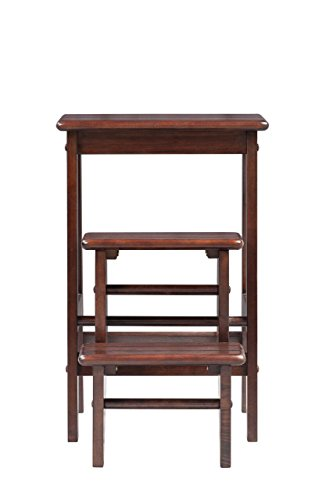 Boraam 36824 Folding Step Stool 24 Inch Cappuccino