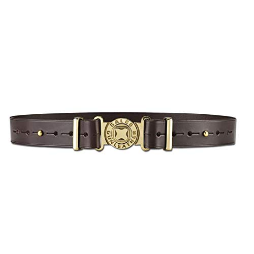 Galco Adjustable Shell Pouch Belt, Dark Havana Brown, Medium (Clays Belt)
