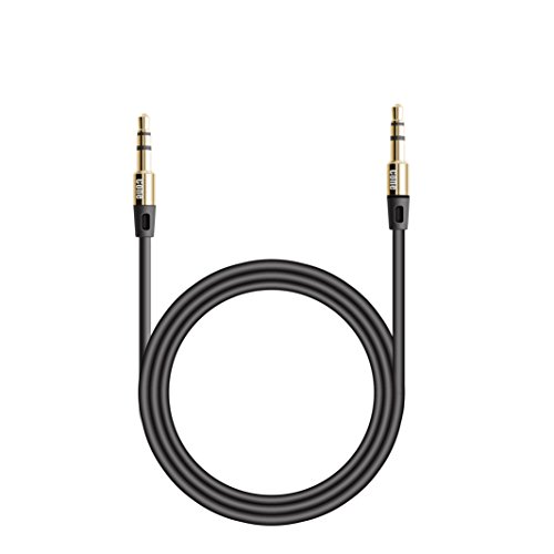 cone u00ae 10ft premium aux cable  gold plated connectors  auxiliary audio cable for car    home