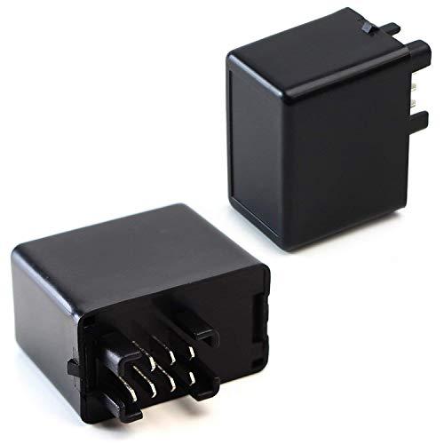 Suzuki Pins - iJDMTOY (1) 7-Pin Plug-N-Play Electronic LED Flasher Relay Hyper Flash Fix For Suzuki Motorcycle Bike Installing LED Turn Signal Bulbs