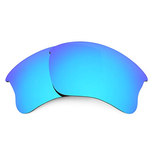 (Revant Polarized Replacement Lenses for Oakley Flak Jacket XLJ Elite Ice Blue MirrorShield)