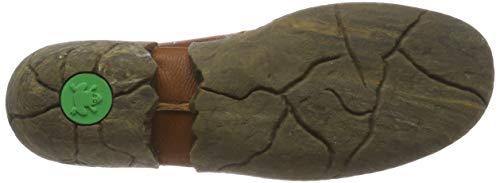 Punta Marrone Cuero Grain Soft Tacco Scarpe Donna Col caliza cuero Cuero Chiusa Naturalista El N5480 FB6xz77