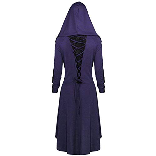 Clearance Sale! Wintialy Women Casual Plus Size Lace up Hooded High Low Dress 5XL