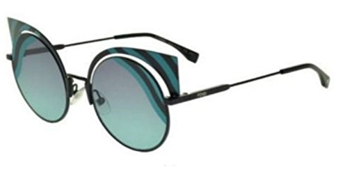 New Fendi HYPNOSHINE FF 0215/S LB/JF Black Azure/Violet Azure Sunglasses