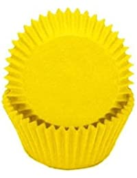 PickUp 1 X Solid Yellow Glassine Baking Liners Cupcake Muffin Cups 50 count save