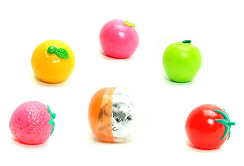 IP4 Tsubu Squeeze Fruit Stress Ball Water Gel Beads ASMR Squishy Mini Mystery Blind Box Japanese Gashapon Capsule Toy ( 1 Random (Generic Stress Balls)