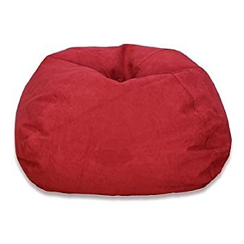 Large Microsuede Bean Bag Chair In Turquoise Red