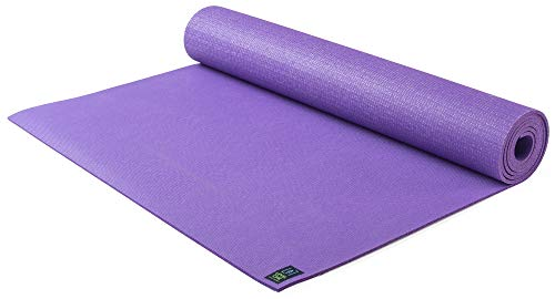 Jade Yoga- Level One Yoga Mat - Sustainable Yoga Mat for A Secure Grip to Help Hold Your Pose (Color: Classic Purple)