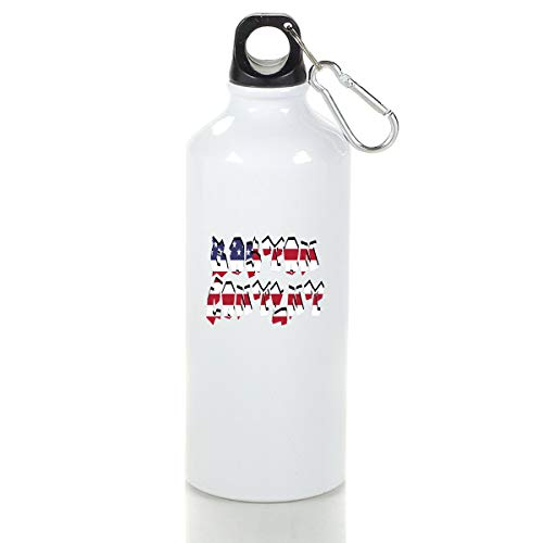 Wenlitee Boston Content Aluminum Outdoor Sports Bottle Mountaineering Kettle White S