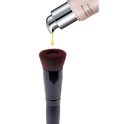 Anne's Giverny Perfect Face Foundation Makeup Brush Liquid Cream Concave Angled Black Brush (Concave)