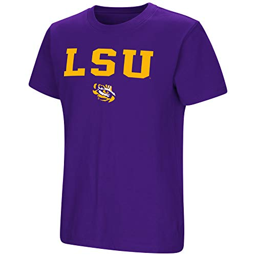 Colosseum NCAA Youth Boys-Talk The Talk-Cotton T-Shirt-LSU Tigers-Purple-Youth Large
