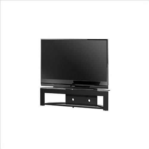 Tech-Craft MD73 LCD,Plasma Glass TV Stand in Black (Tech Craft Metal Tv Stand)