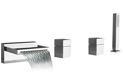 Chrome Components Deck (Quarto Deck Mount Roman Tub Faucet Trim Finish: Chrome)