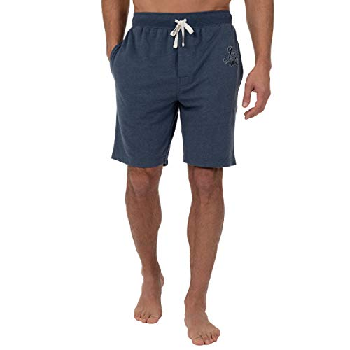 - IZOD Men's French Terry Sleep Short, Blue Heather, Medium