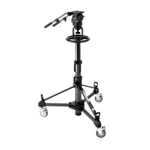 Libec RSP-750PD(B) Professional Pedestal System for Studio Broadcasting with RHP75 Head, P110 Pedestal, Extra PH-8B Handle, Supports 37.5 lbs (Includes DL-8B Dolly) by Libec