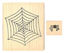 - Pink Ink Stamps Spider and Web Rubber Stamps