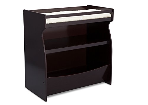 Delta Children 2-in-1 Changing Table and Storage Unit, Dark Chocolate by Delta Children