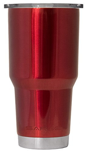 Sarge Knives DC-30RD 30 oz Stainless steel Tumbler with Shatterproof Lid and Red Desert Cup by Sarge Knives